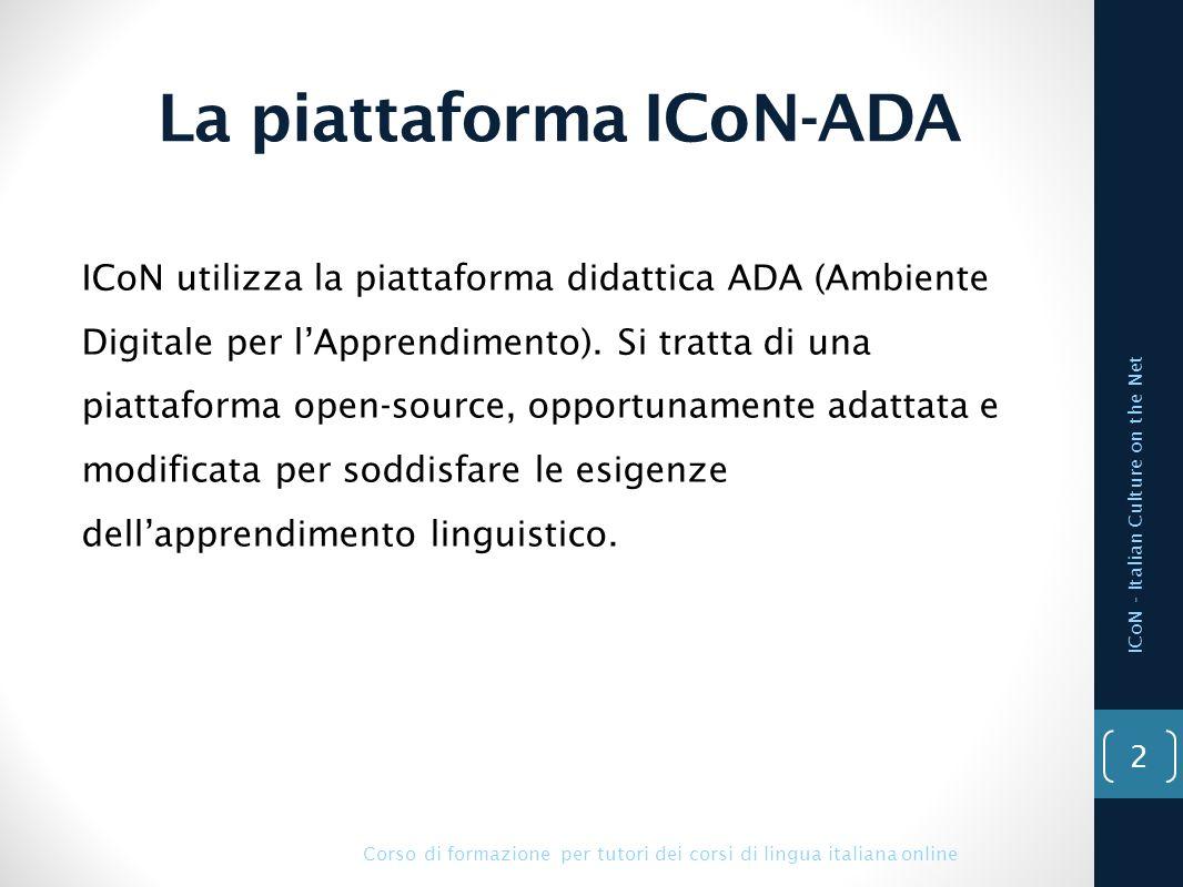 La piattaforma ICoN-ADA