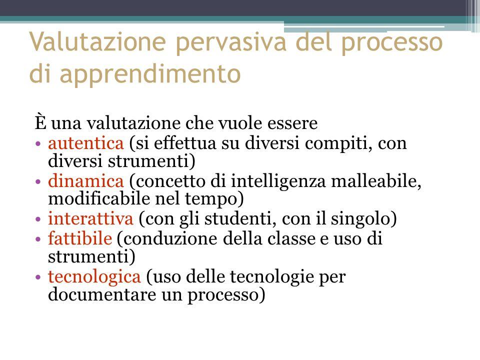 Valutazione pervasiva del processo di apprendimento