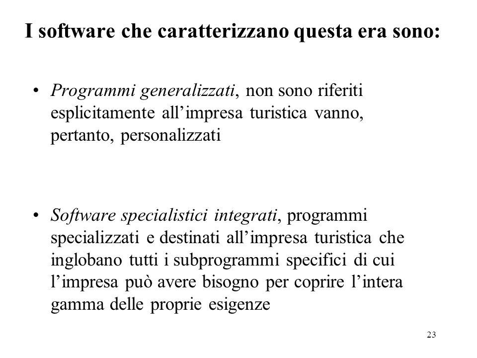 I software che caratterizzano questa era sono: