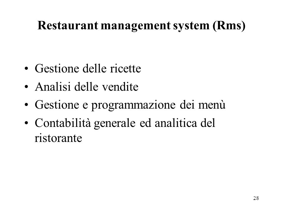 Restaurant management system (Rms)