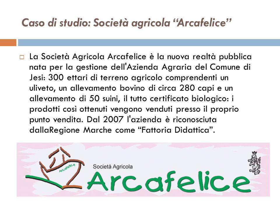 Caso di studio: Società agricola Arcafelice