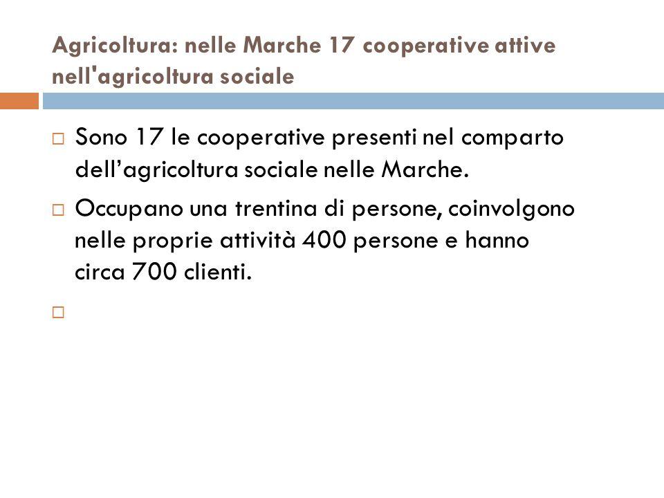 Agricoltura: nelle Marche 17 cooperative attive nell agricoltura sociale