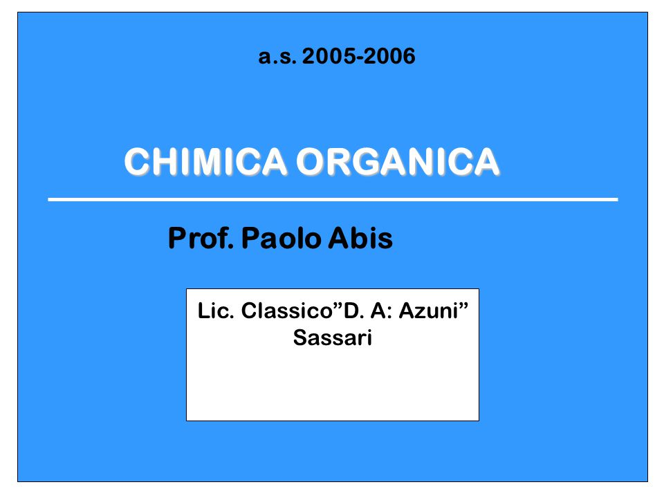 Lic. Classico D. A: Azuni