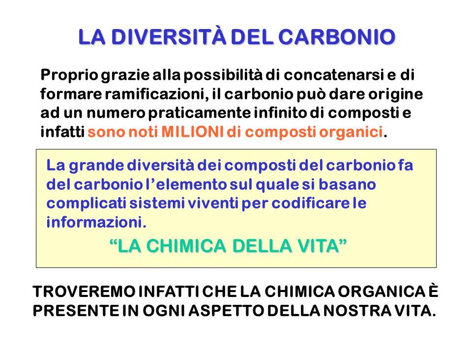 LA DIVERSITÀ DEL CARBONIO