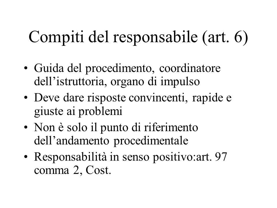 Compiti del responsabile (art. 6)
