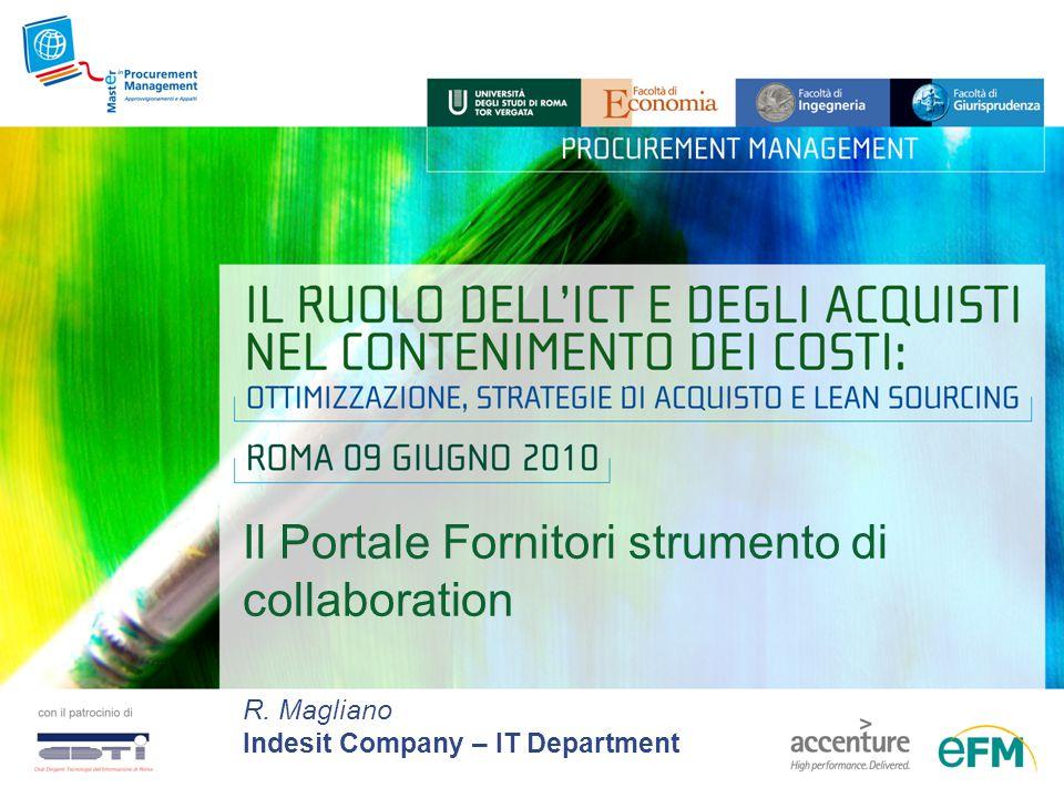 Il Portale Fornitori strumento di collaboration