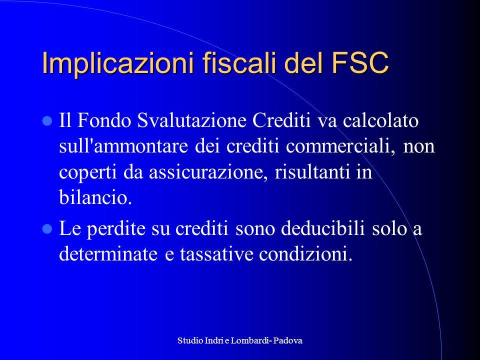 Implicazioni fiscali del FSC