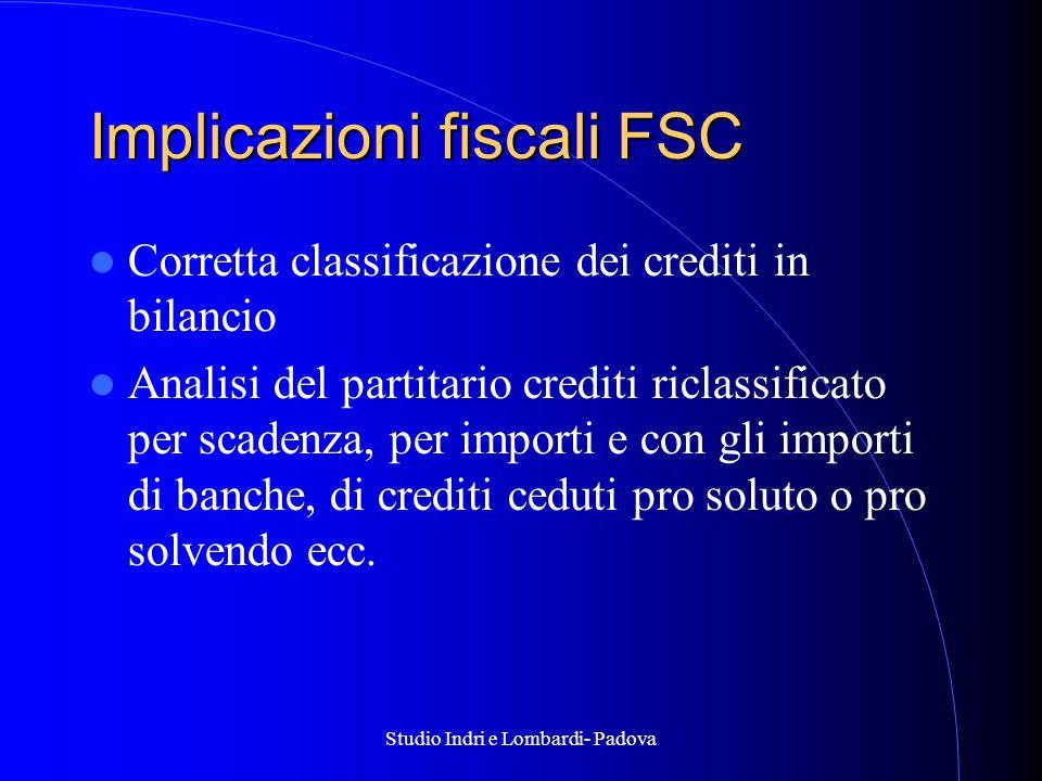 Implicazioni fiscali FSC