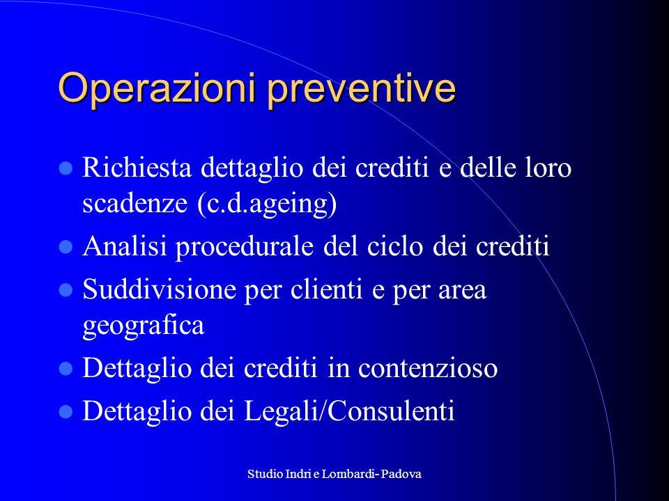 Operazioni preventive