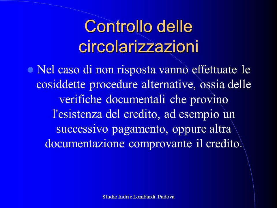 Controllo delle circolarizzazioni