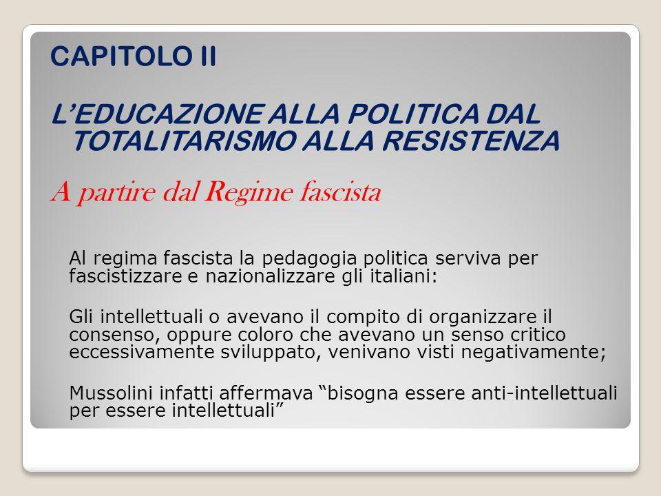 A partire dal Regime fascista