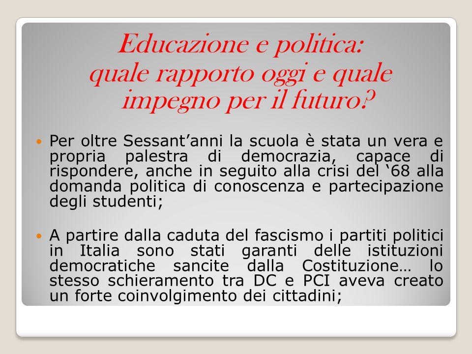 Educazione e politica: