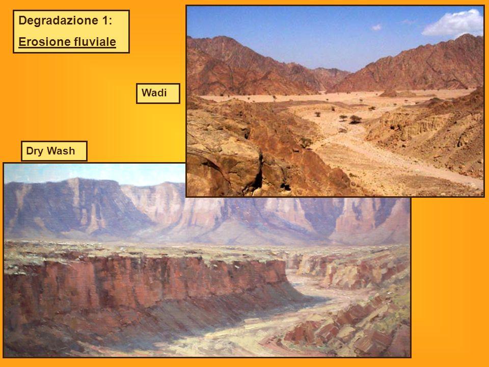Degradazione 1: Erosione fluviale Wadi Dry Wash