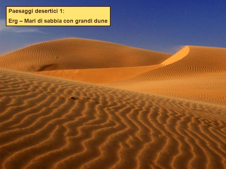 Paesaggi desertici 1: Erg – Mari di sabbia con grandi dune