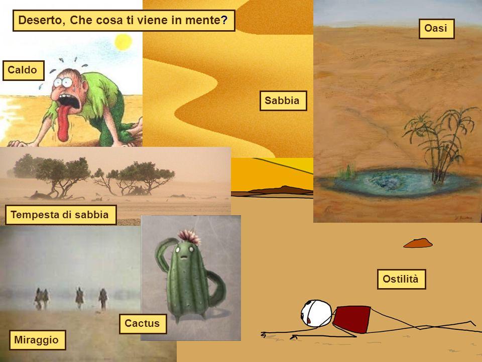 Deserto, Che cosa ti viene in mente