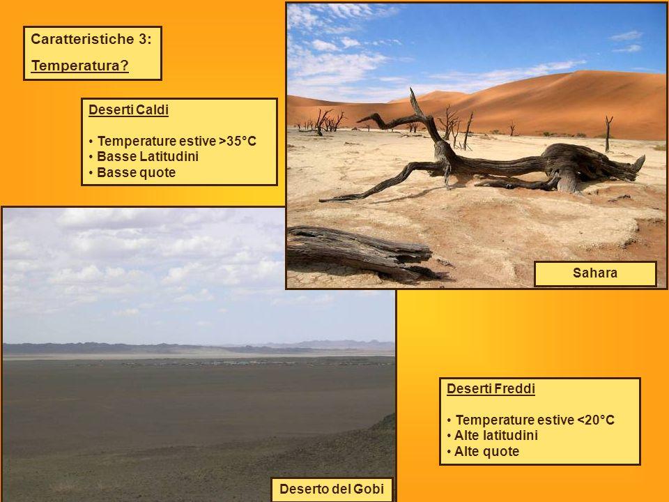 Caratteristiche 3: Temperatura Deserti Caldi