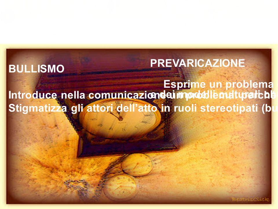 L'idea (1999-2002) BULLISMO. Introduce nella comunicazione un problema: perché