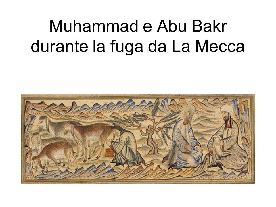 Muhammad e Abu Bakr durante la fuga da La Mecca