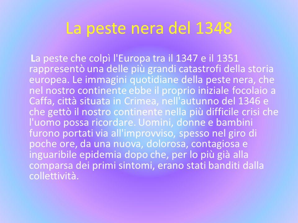 La peste nera del 1348