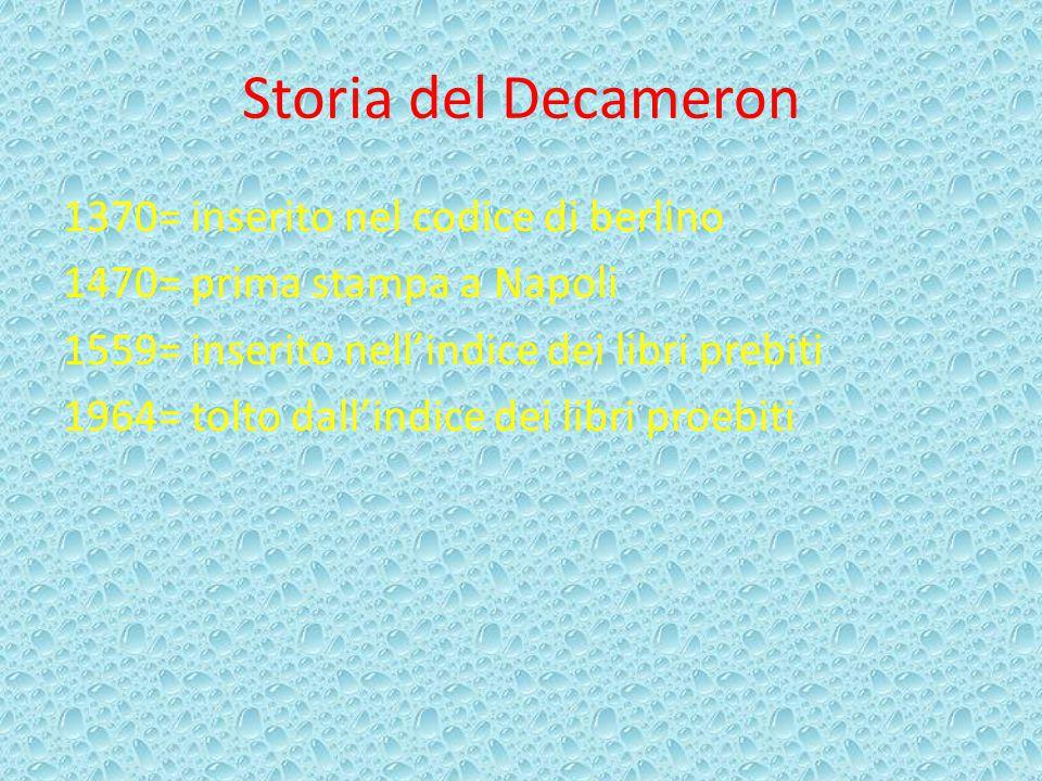 Storia del Decameron