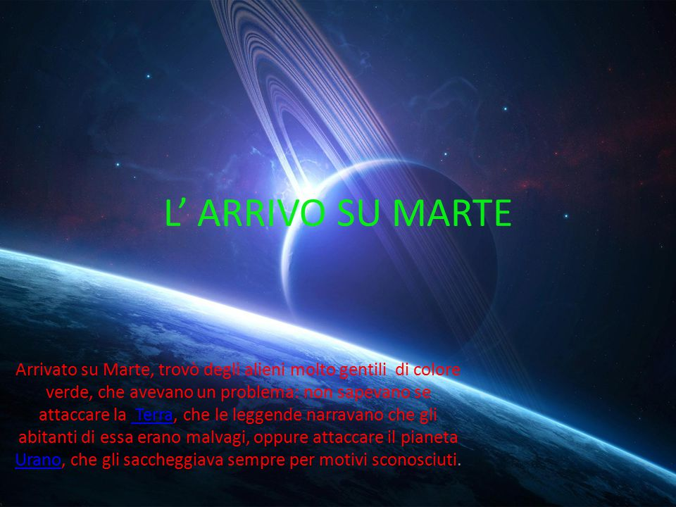L' ARRIVO SU MARTE