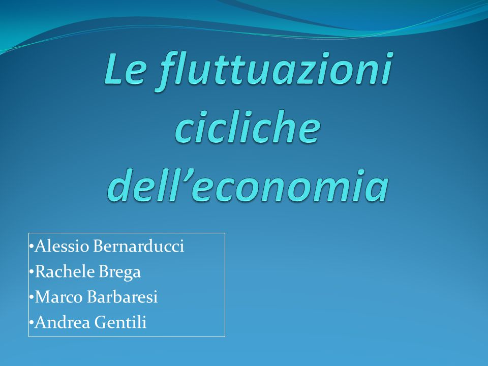 Le fluttuazioni cicliche dell'economia