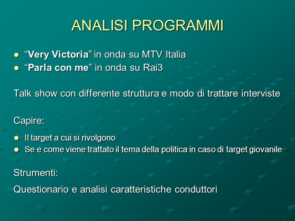 ANALISI PROGRAMMI Very Victoria in onda su MTV Italia