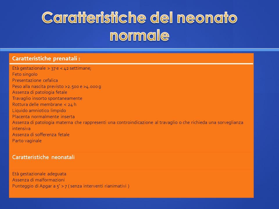 Caratteristiche del neonato normale