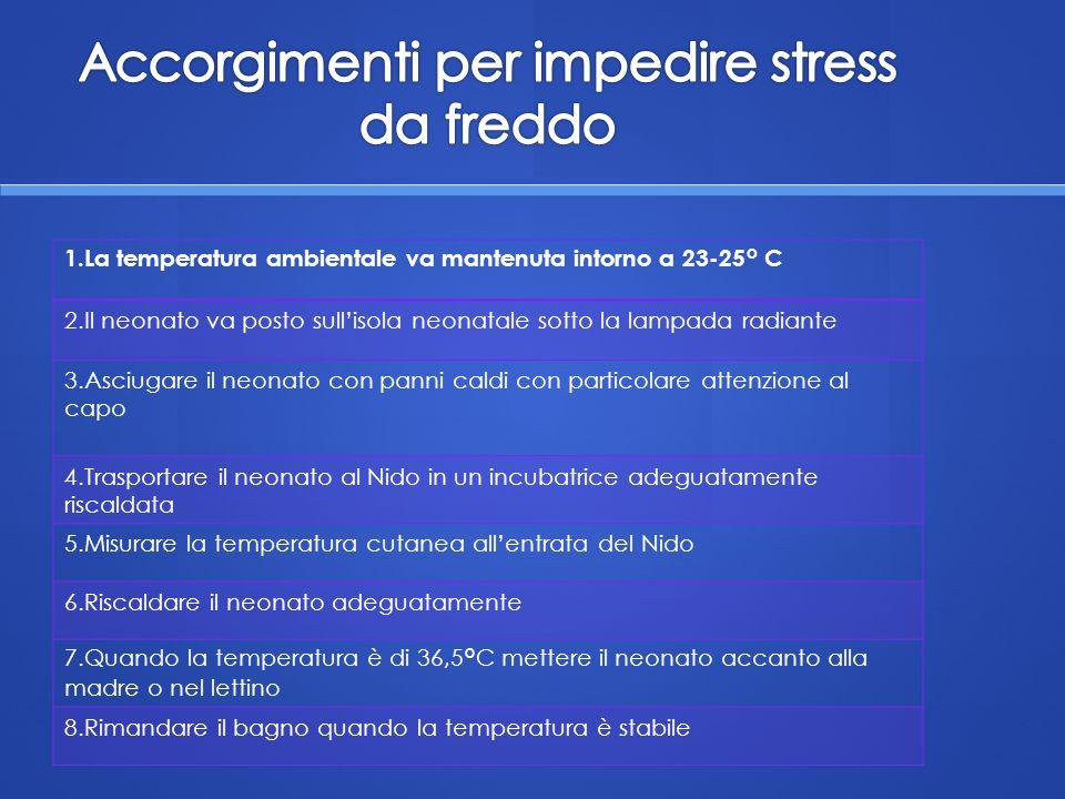 Accorgimenti per impedire stress da freddo