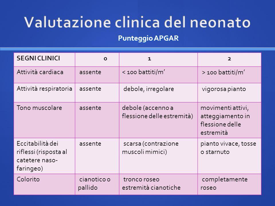 Valutazione clinica del neonato