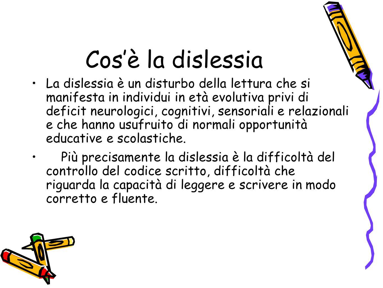 Cos'è la dislessia