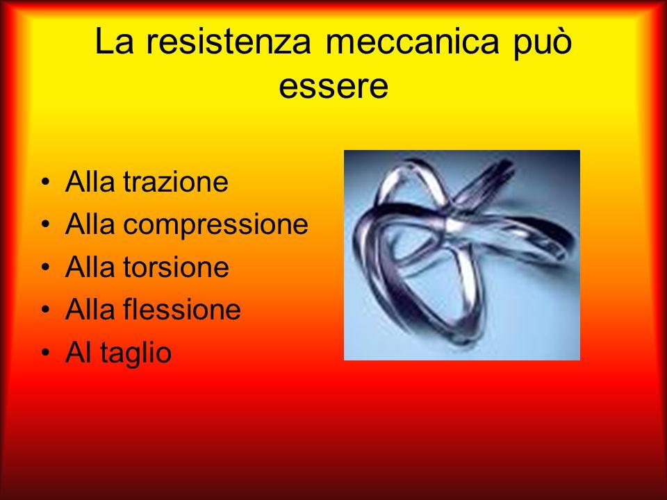 La resistenza meccanica può essere