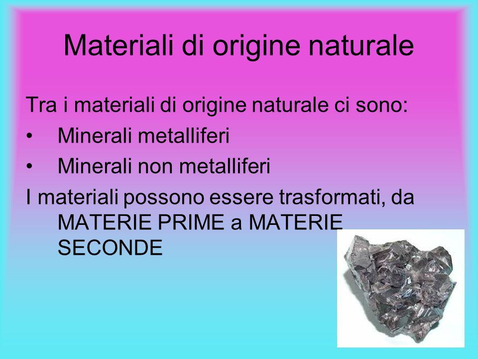 Materiali di origine naturale
