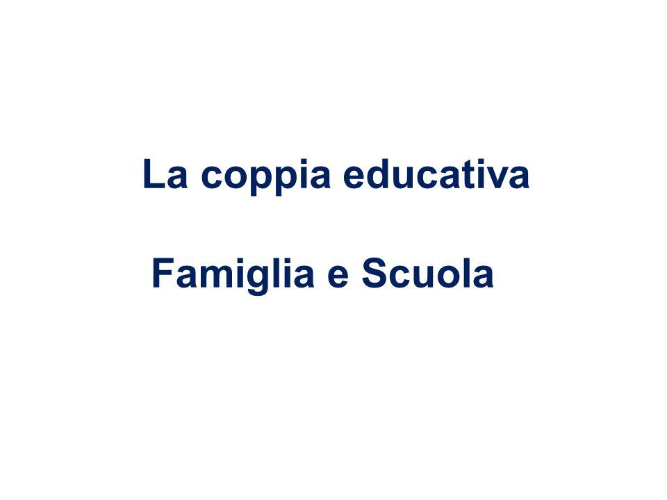 La coppia educativa Famiglia e Scuola