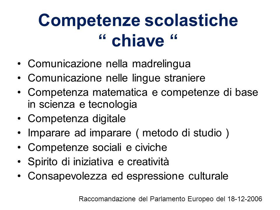 Competenze scolastiche chiave