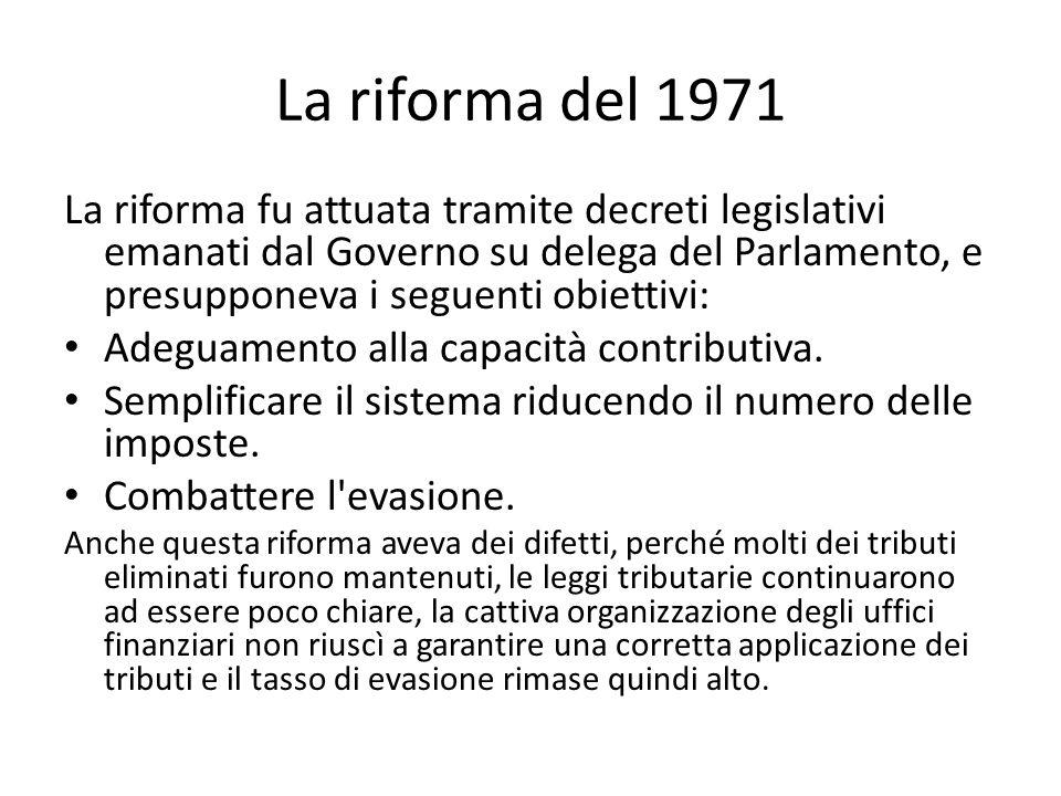 La riforma del 1971