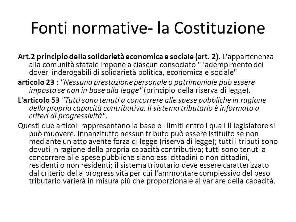 Fonti normative- la Costituzione