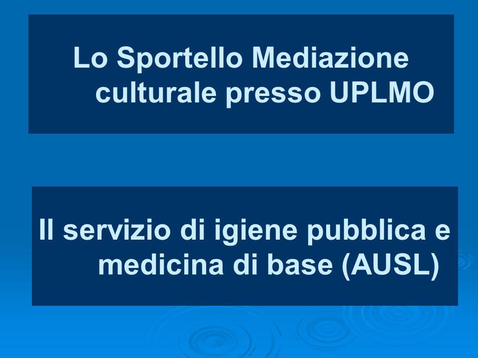 Lo Sportello Mediazione culturale presso UPLMO