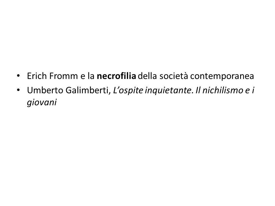 Erich Fromm e la necrofilia della società contemporanea