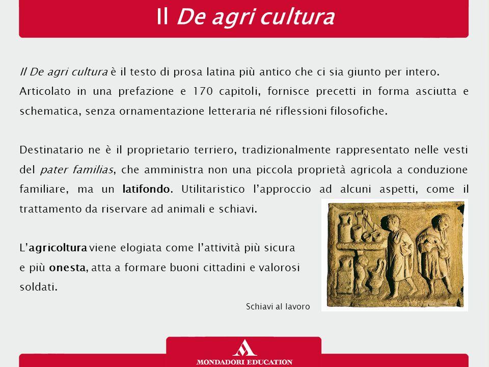 Il De agri cultura 12/01/13. Il De agri cultura è il testo di prosa latina più antico che ci sia giunto per intero.