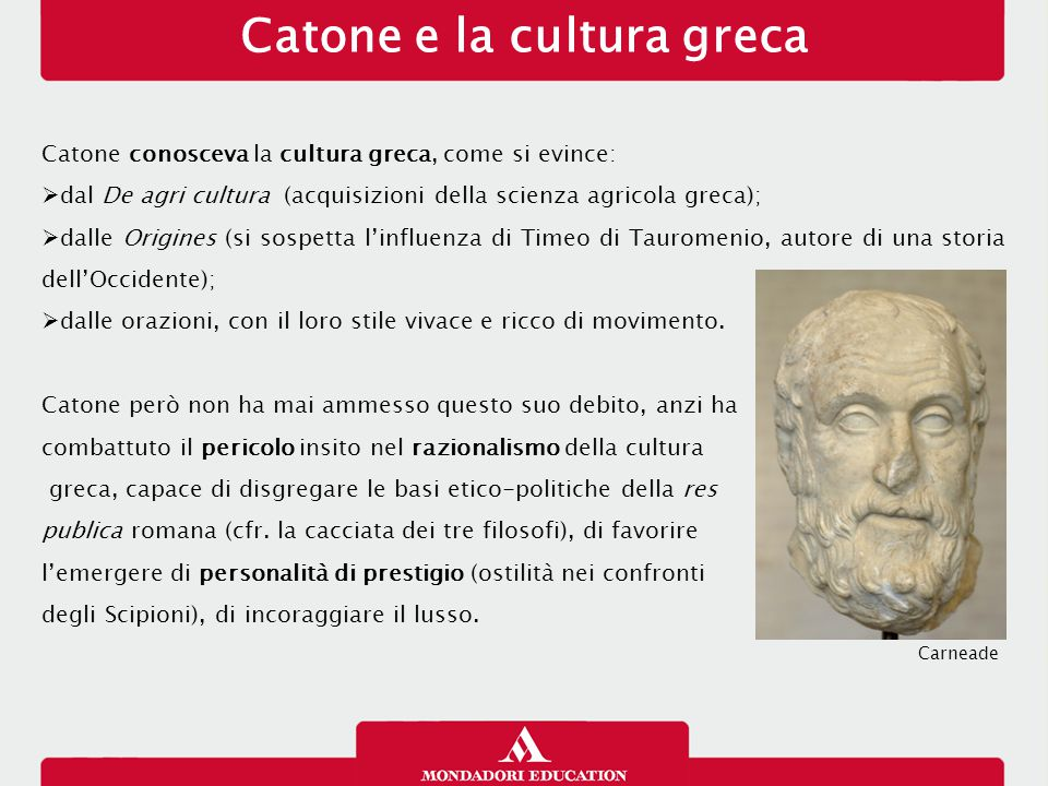 Catone e la cultura greca