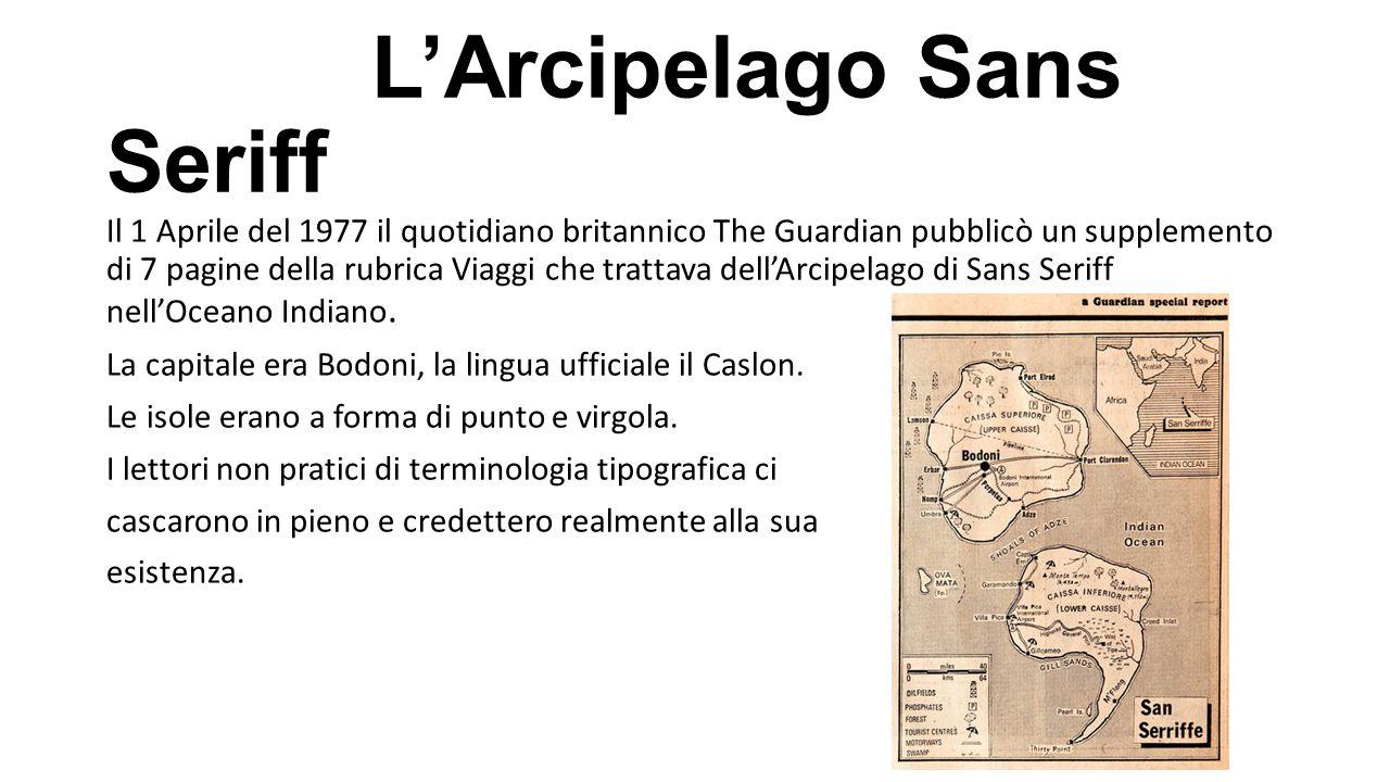 L'Arcipelago Sans Seriff