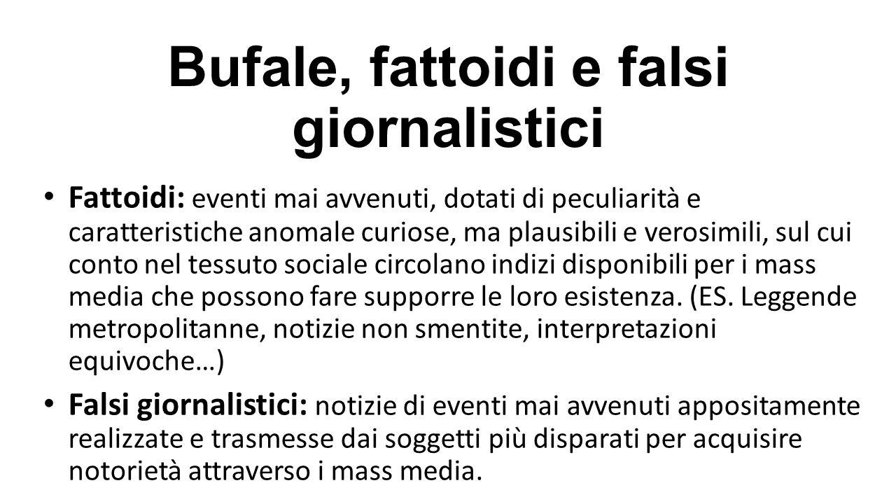 Bufale, fattoidi e falsi giornalistici
