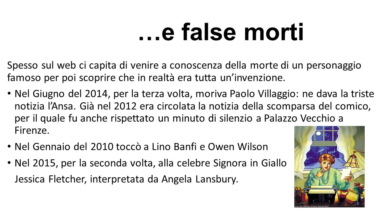 …e false morti