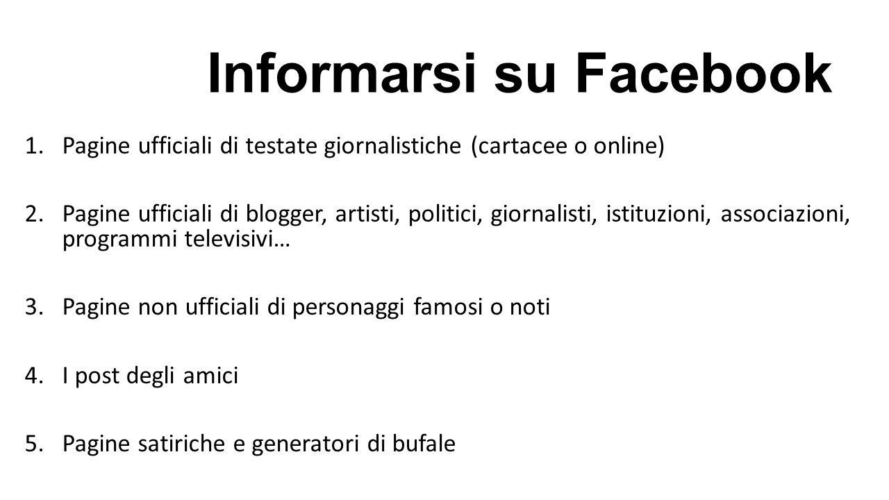Informarsi su Facebook