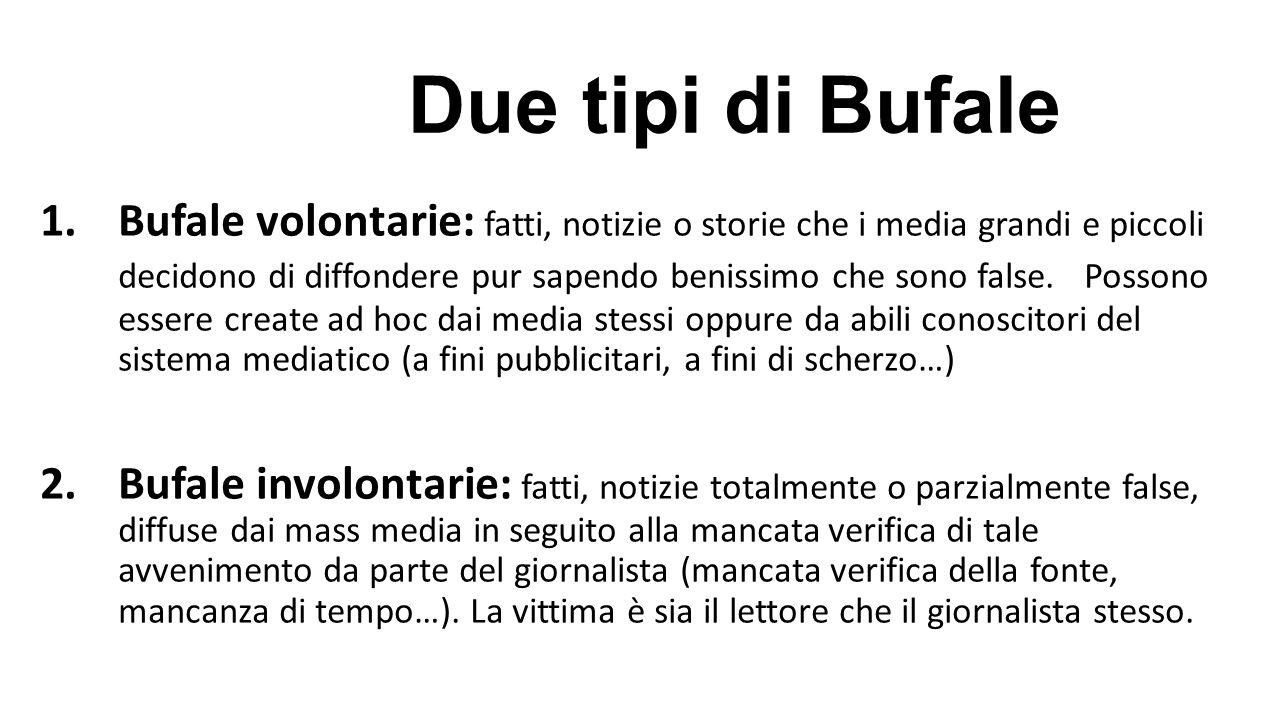 Due tipi di Bufale