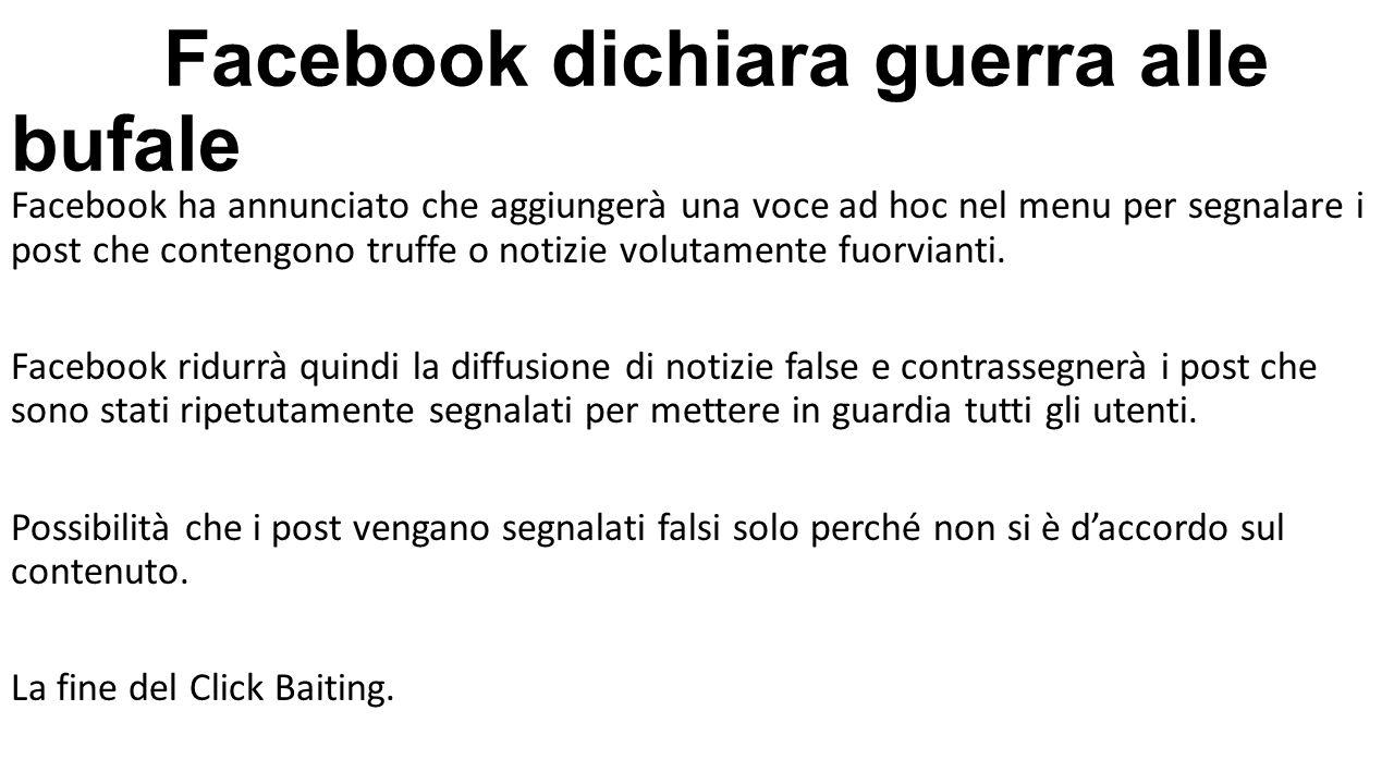 Facebook dichiara guerra alle bufale