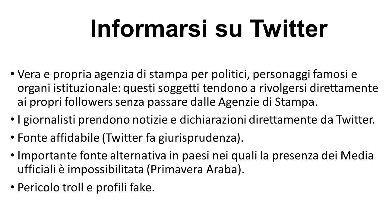 Informarsi su Twitter