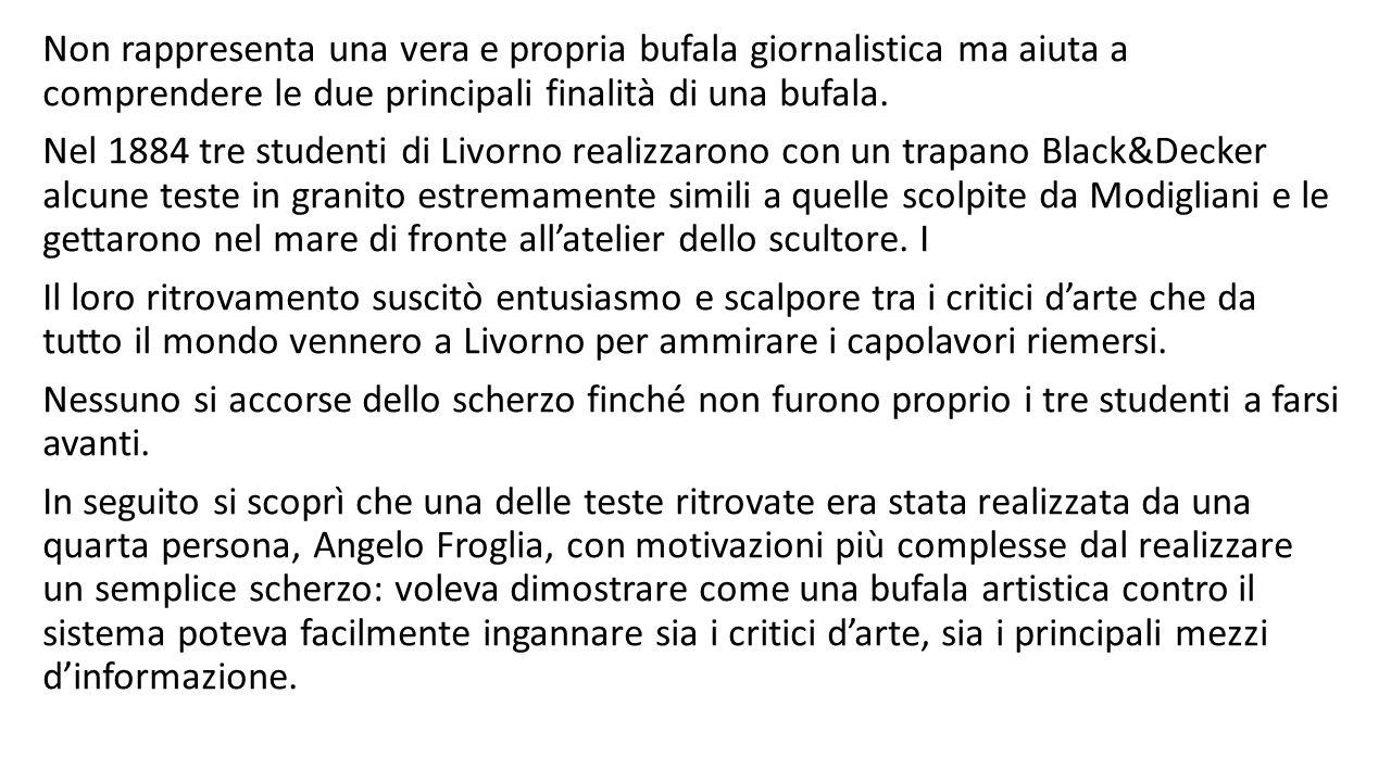 Non rappresenta una vera e propria bufala giornalistica ma aiuta a comprendere le due principali finalità di una bufala.