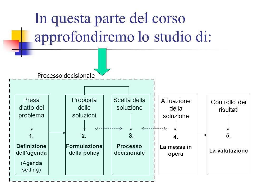 In questa parte del corso approfondiremo lo studio di:
